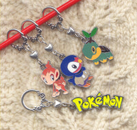 Pokemon Knitting Stitch Markers Gen 4 Starters enameled Set of 4 /SM256E