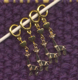 Gold Alpaca Knitting Stitch Markers Love Alpacas Set of 4/SM264A