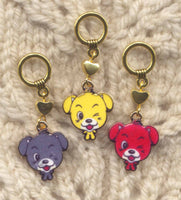 Puppy Love Knitting Stitch Markers Love My Dog Puppy  Set of 3/SM266