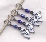 Ghosts Knitting Stitch Markers Enameled Spooks Great for lace knitting! Set of 4 /SM270