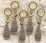 Troika Doll Stitch Markers Russian Nesting Dolls Set of 5/SM240