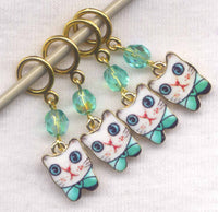 Kitty Cat Knitting Stitch Markers Kittens Love My Cat Set of 4/SM286