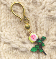 Long Stemmed Roses Progress Keeper Hook Pink Rose Single/SM287