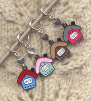 Dog House Knitting Stitch Markers Love My Puppy Lace or Socks Set of 4/SM289