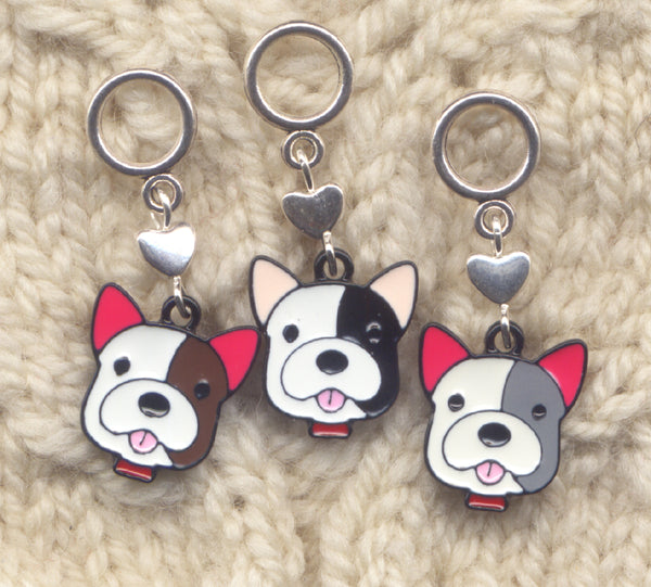 Happy Dogs Knitting Stitch Markers  Love My Dog Puppy Lace or Socks Set of 3/SM290