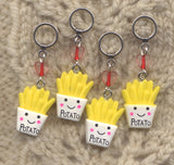 French Fries Knitting Stitch Markers Fast Food Set of 5/SM294
