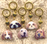 Bow Wow Dogs Stitch Markers Must Love Dogs  Set of 5 /SM300