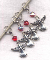 Flight of Angels Stitch Markers Guardian Angels  Set of 4 /SM305