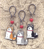 The Family Dog Progress Keeper Hooks Husky Mutts  Set of 3/SM306
