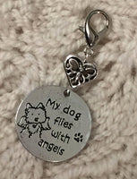 Beloved Dog Stitch Marker Clip My Dog Is An Angel Pet Memorial Single /SM339