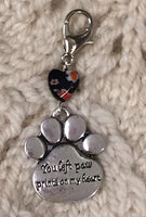 You Left Paw Prints on My Heart Progress Keeper Clip Memorial Single /SM343