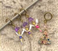 Tiny Fairies Knitting Stitch Markers Faeries Magic Garden Set of 4/ SM355