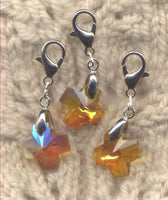 Radiant Crystal Amber Cross Progress Keeper Clips each /SM392