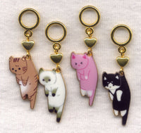 Hung Out To Dry Cats Knitting Stitch Markers Set of 4 /SM401