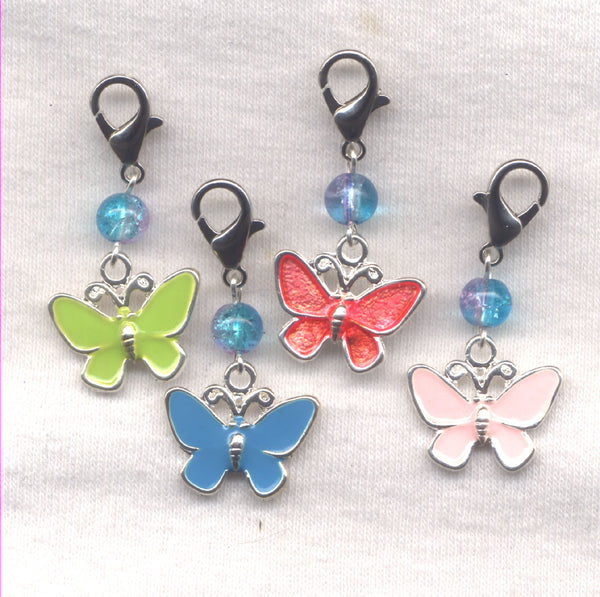 Butterfly Progress Keeper Clips Enameled Set of 4/SM58A