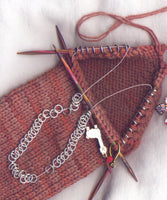No-Wrap Sock Heel Stitch Markers Perfect For Bulky Knits Set of 40 /SM60C