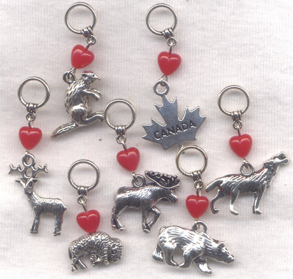 Wild Canada Knitting Stitch Markers  Set of 7 Animals/SM64