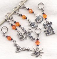 Halloween Knitting Stitch Markers Spooky Fun Deluxe Set of 7/SM80E