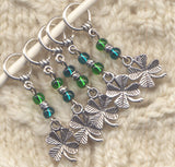 4 Leaf Clover Knitting Stitch Markers Luck of the Irish Set of 5/SM76A