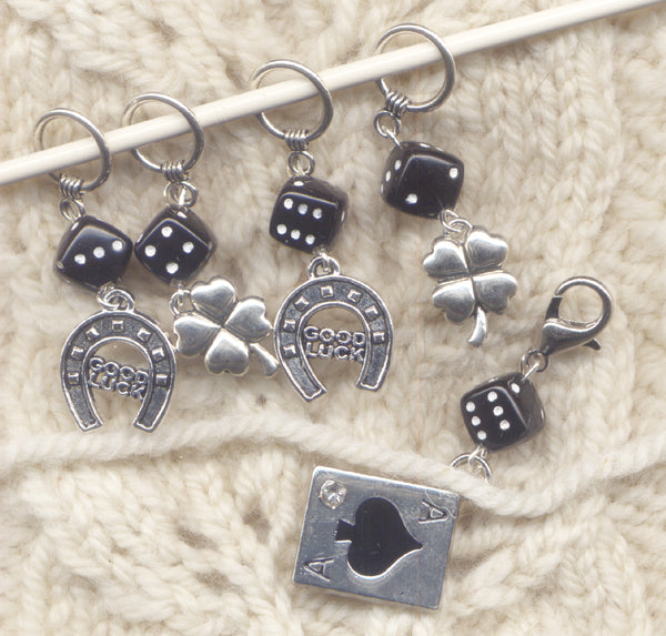 Good Luck Knitting Stitch Markers Ace in the Hole Set of 5/SM76B
