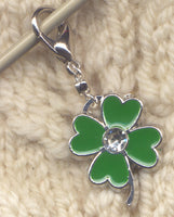 4 Leaf Clover Stitch Marker Clip Luck of the Irish Single /SM76D