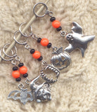 Halloween Knitting Stitch Markers Spooky Fun Set of 5/SM80F