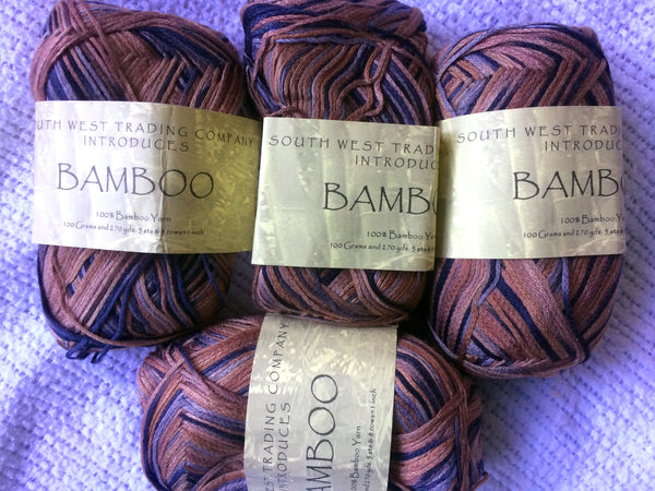 SWTC Bamboo Lot of Two 100 gm balls Color Esquire Brown and Charcoal