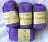SWTC Bamboo Luxury Yarn Lot of Two 100 gm balls Color Purple
