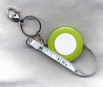 Retractable Tape Measure with Keyring and Clip Lime Green /TapeGR