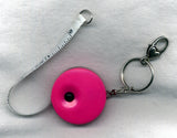 Retractable Tape Measure with Keyring and Clip Pink /TapePK