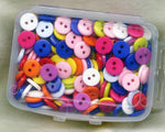 Button Box Doll Clothes Size Assorted Colors 2 Holes 9mm Acrylic Buttons Box09