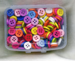 Button Box Doll Clothes Size Assorted 4 Hole 9mm 400 Acrylic Buttons Box10