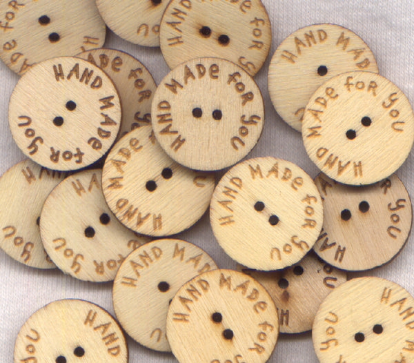 "Handmade For You Bulk Buttons 20mm (7/8"") 50 per Package Bulk01"