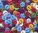 "Doll Clothes Mini Bulk Acrylic Buttons 9mm (1/4"") 500 per Package Bulk02"