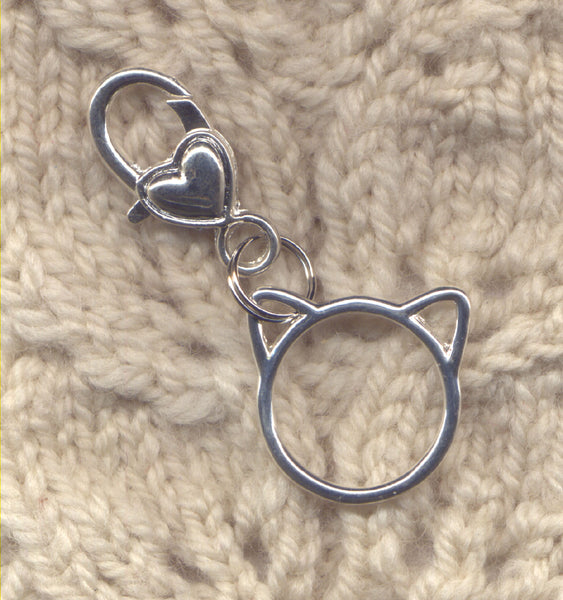 Cat Clip Stitch Marker Holder Progress Keeper Holder