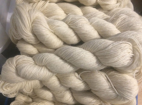Bare Undyed 100% Wool DK Weight Yarn 246 yard skein
