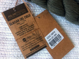Glaciar Del Cielo Luxury Cotton Yarn color Dark Olive Green Two 50 gm 125 meter skeins