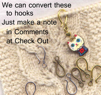 Art Deco Dogs Stitch Marker Clips Sugar Skull Design Lucky set of 2/SM13B