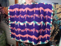 Purple Palooza Poncho  Easy Care CP04