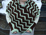 Mint Chocolate Poncho and Gloves Set Easy Care CP03