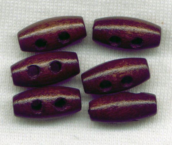 Dark Brown Toggle Buttons Wooden Buttons 15 mm (5/8 inch) Set of 12 /Mini15
