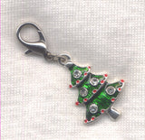 Christmas Tree Stitch Marker Clip Rhinestone Charm Single /SM247B