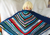 Rainbow Pizazz Poncho Unisex Easy Care Poncho Multi Color Warm Cozy CP02