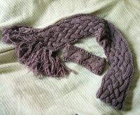 Purple Tweed Scarf Headband Set Neck and Ear Warmer Unisex Easy Care Cowl CP050