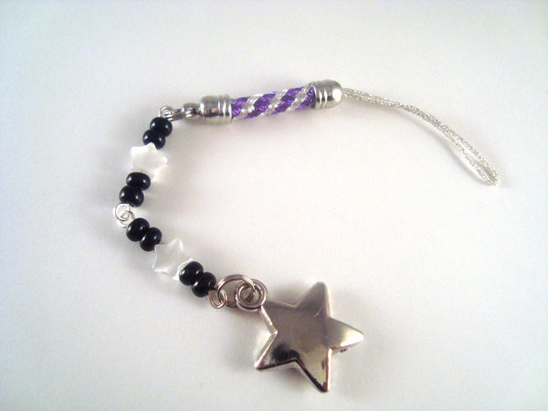 Silver Star Cellphone Charm CH041