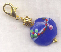 Lazy Daisy Stitch Marker Clip Cobalt Blue  Single/SM08B