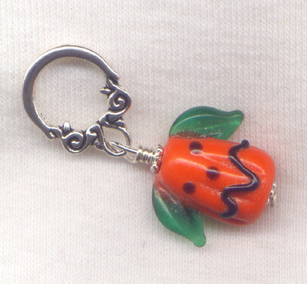Jack O Lantern Knitting Stitch Marker Pumpkin Head Halloween Each/ SM254B