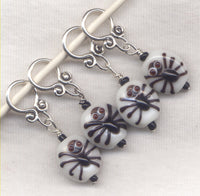 Spooky Spider Knitting Stitch Markers Halloween Fun Arachnids Set of 2/ SM254A