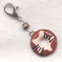 Glazed Donut Stitch Marker Clip Chocolate Crispy Creme Single /SM05D