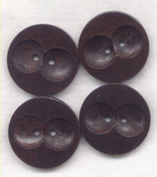 Midnight Brown Buttons Classic Wooden Buttons Owl Eyes 30mm (1 1/4 inch) Set of 8 /BT397